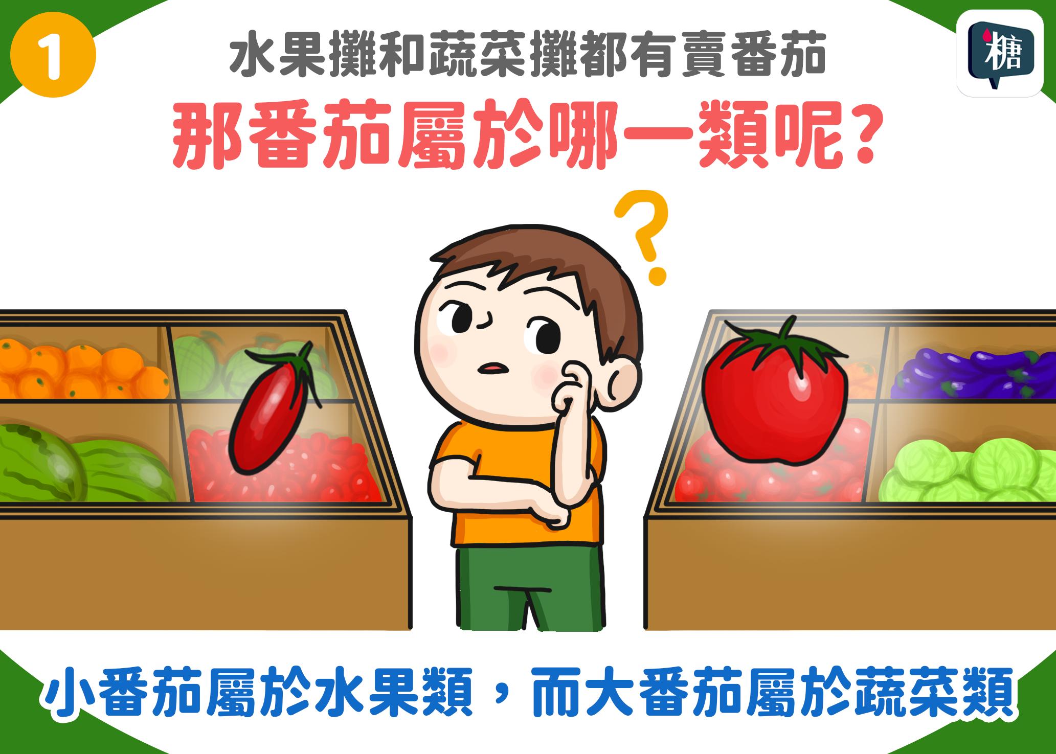 水果攤和蔬菜攤都有賣番茄,那番茄屬於哪一類呢?